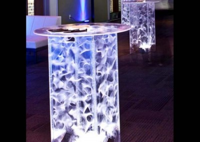 Acrylic Hightop Tables  ( Acrylic Cocktail Tables also available)