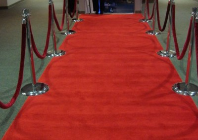 Red Carpet with Rope and Stanchions