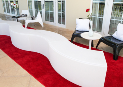 Curved Benches - Lighted or Unlit