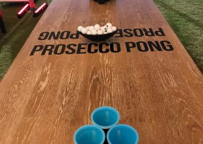 Prosecco Pong Table